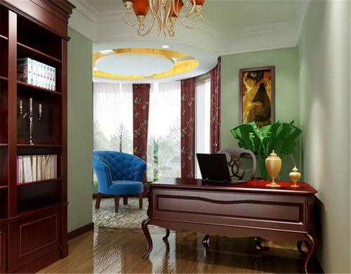 现代简约四居室书房书柜装修图片