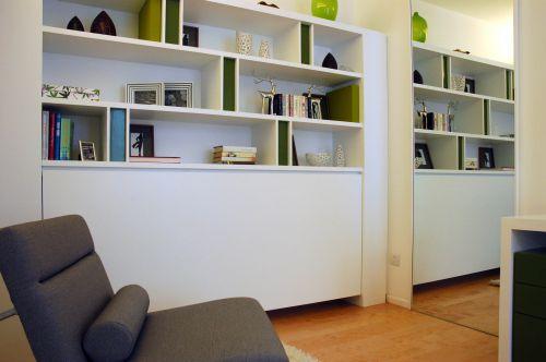 现代简约三居室书房书柜装修效果图