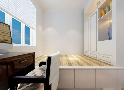 现代简约一居室书房组合柜装修效果图大全
