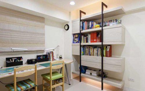现代简约一居室书房书柜装修效果图欣赏
