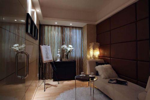 现代简约三居室书房灯具装修效果图