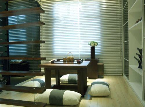 现代简约三居室书房组合柜装修图片