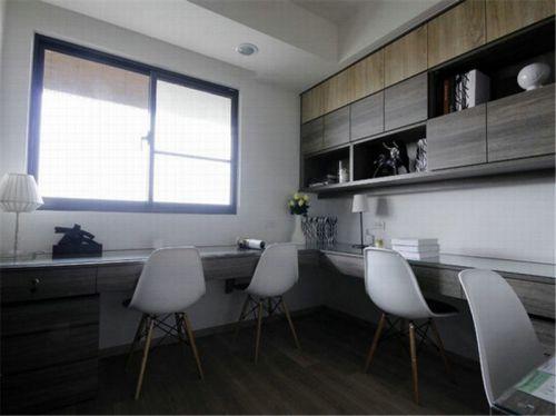 现代简约三居室书房飘窗装修效果图欣赏
