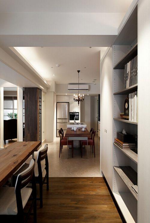 现代简约四居室书房书柜装修效果图欣赏