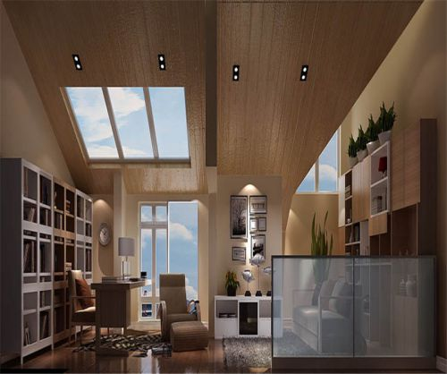 现代简约五居室书房书柜装修效果图欣赏