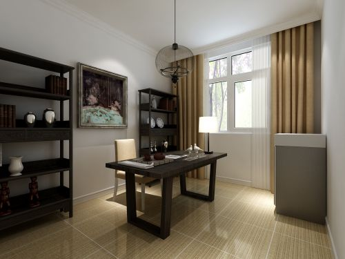 现代简约二居室书房飘窗装修效果图大全