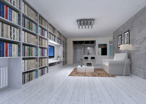 现代简约二居室书房飘窗装修效果图