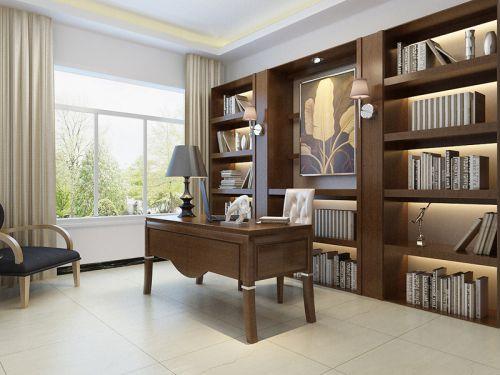 现代简约别墅书房书柜装修效果图大全