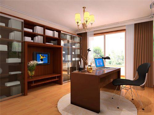 现代简约二居室书房窗帘装修效果图