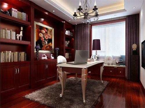 现代简约三居室书房灯具装修效果图大全