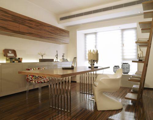现代简约四居室书房飘窗装修效果图大全