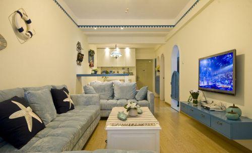 地中海风格休闲客厅图片欣赏