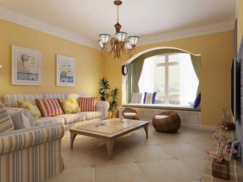 黄色地中海客厅装修设计