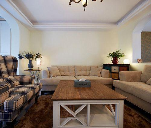 美式田园风格温馨装饰客厅设计图片