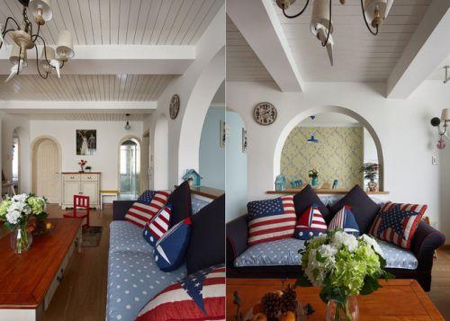 地中海风格摩登创意客厅设计