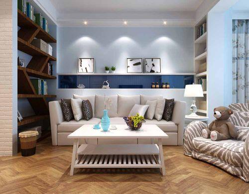 地中海蓝色客厅欣赏