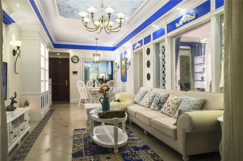 清新地中海风格客厅效果图设计