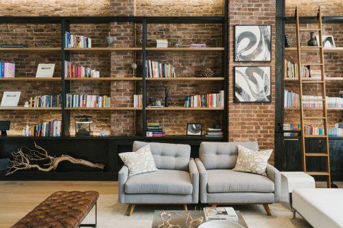美式风格质感黑色客厅装修图