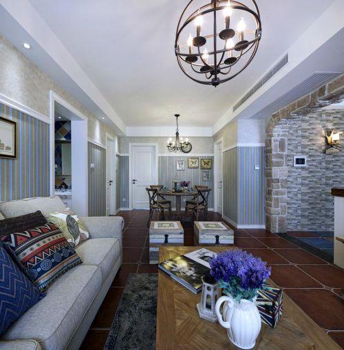 休闲美式风格灰色客厅装饰案例
