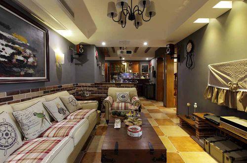 休闲美式复古客厅设计图片
