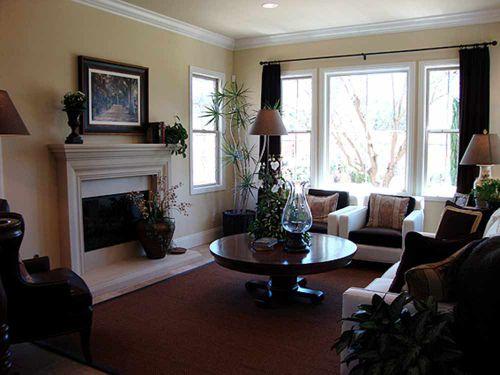 2016休闲温馨美式风格客厅整体装修效果图片