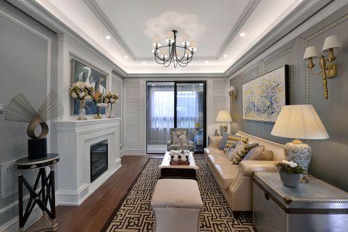 简洁美式风格客厅装修美图