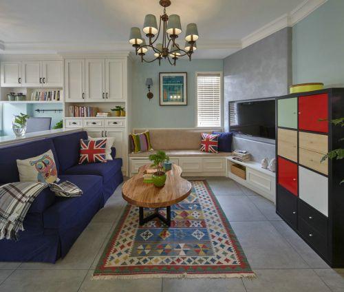 英伦范美式米色客厅装潢案例