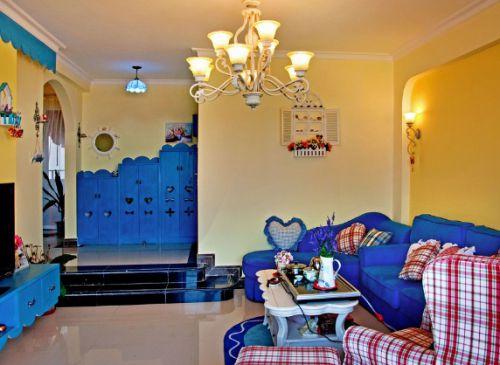 地中海风格客厅装潢案例