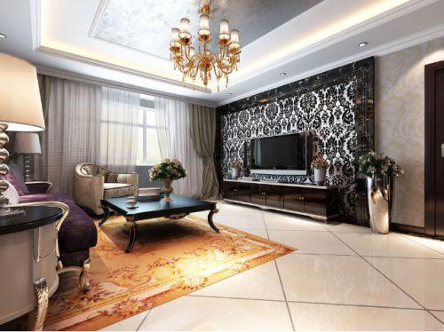 个性黑色美式风格客厅装修设计赏析