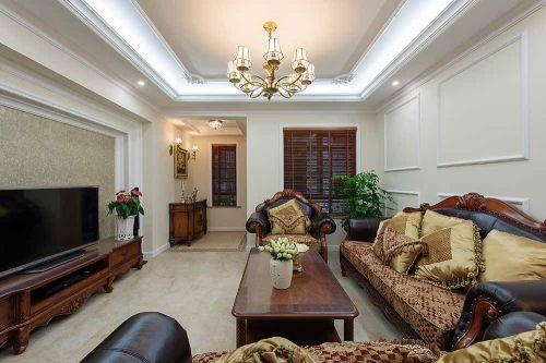 美式古典客厅装修效果图片欣赏