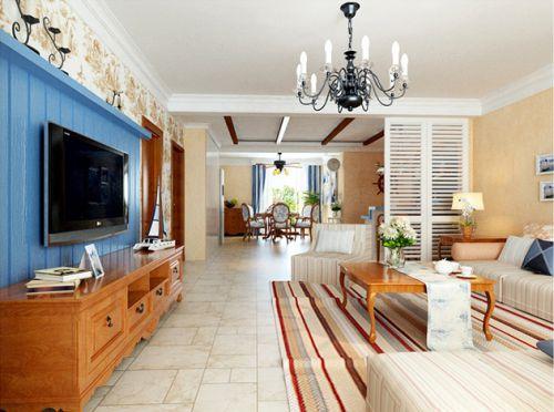 橙色地中海客厅案例欣赏