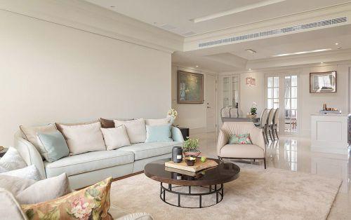 2016简约美式舒适客厅装修布置
