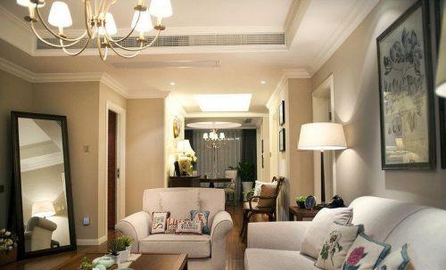 米色美式风格休闲客厅美图赏析