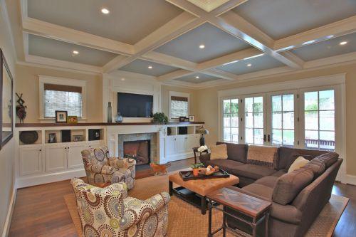 美式风格客厅设计装潢