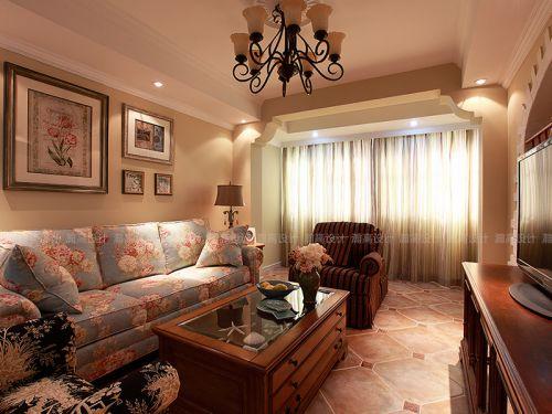 2016温馨舒适美式风格客厅装修设计