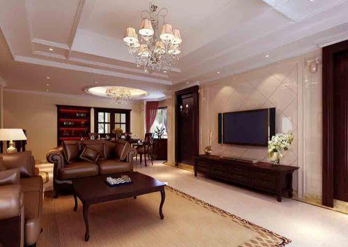 原木色大气美式客厅设计