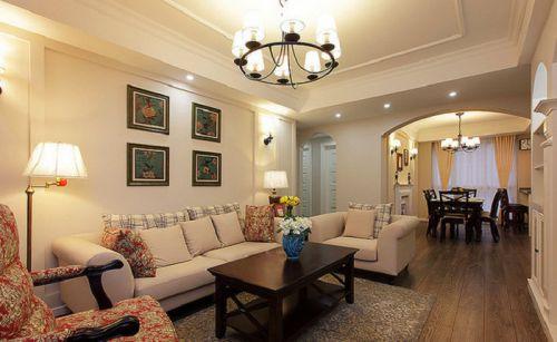 2016米色美式风格客厅欣赏