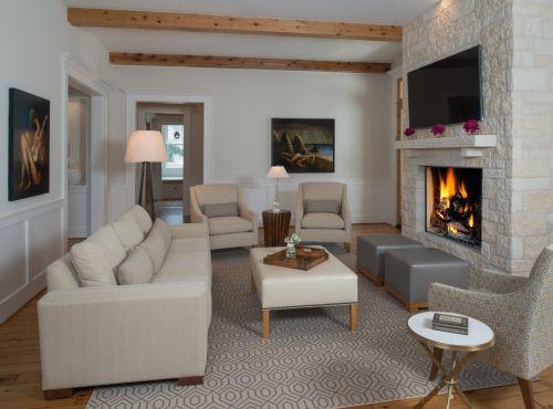 2016灰色雅致时尚美式风格客厅设计装潢