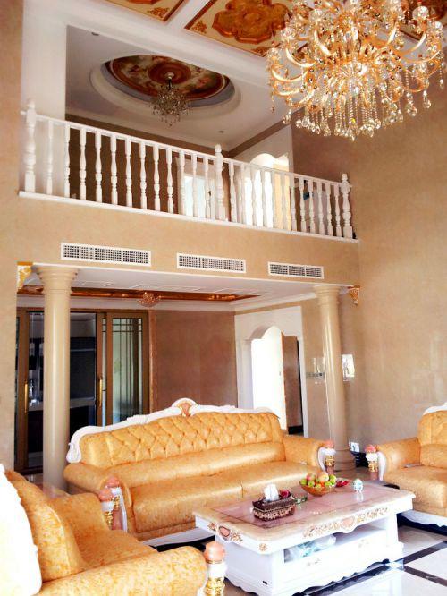 美式风格大气米色客厅装修案例