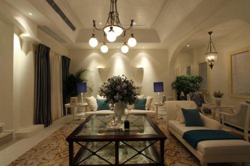 地中海风格米色温馨客厅效果图