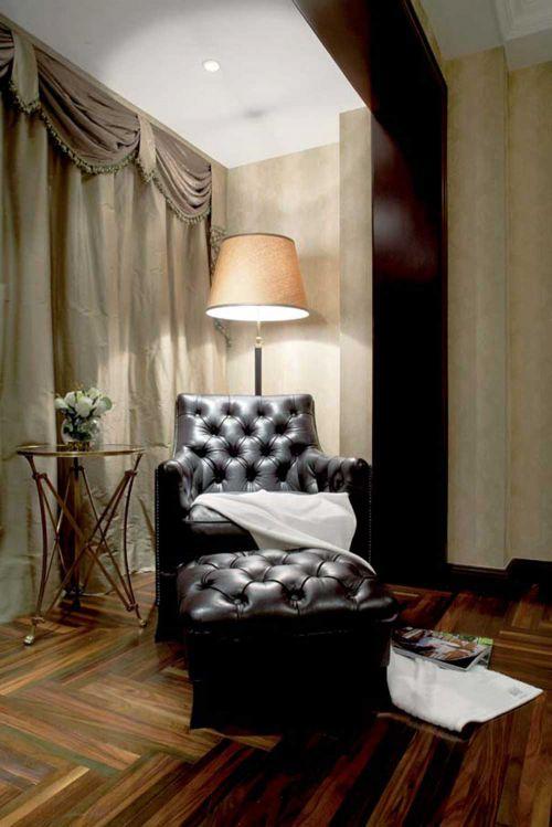 高端大气美式风格客厅局部设计