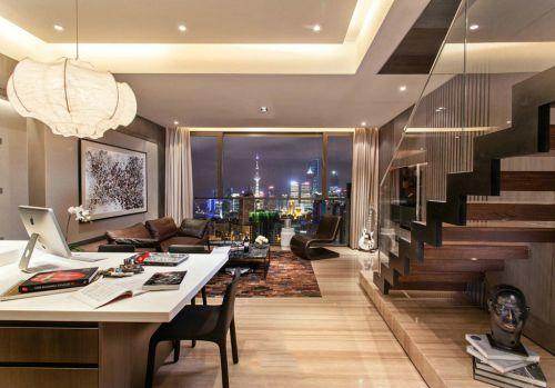 美式风格米色个性客厅装饰图