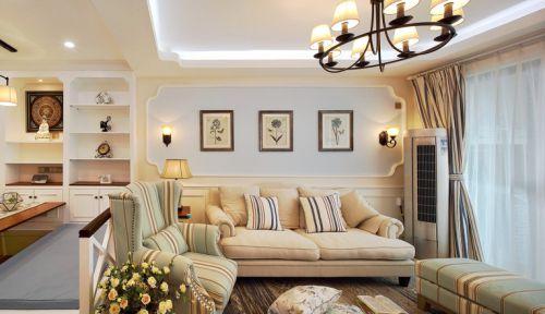 经典美式简约客厅装修效果