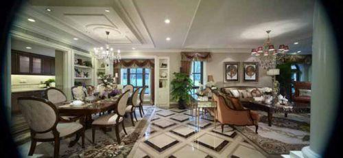 2015美式客厅全景装修设计图