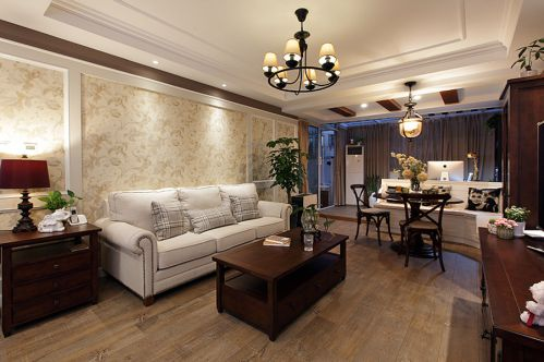 美式温馨客厅设计装潢