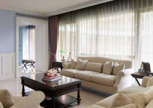 白色清新自然美式客厅图片赏析