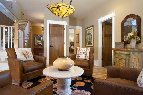 清爽创意美式风格客厅欣赏