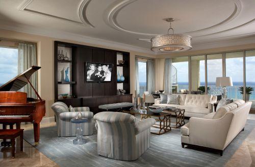 2016美式风格客厅装修图片
