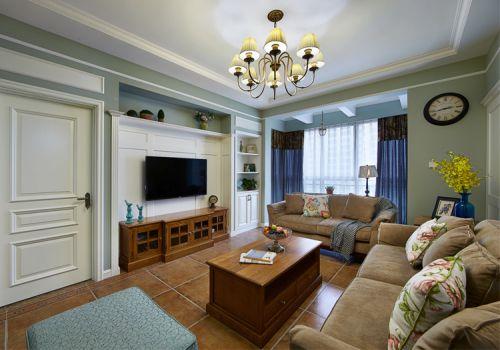 简约美式风格客厅装修效果