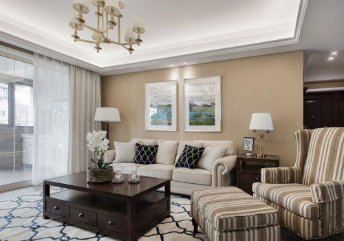 精致美式客厅照片墙美图
